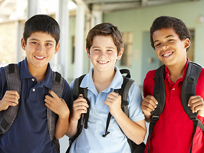 three school boys